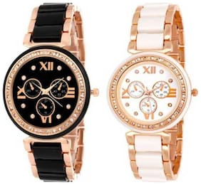 New Stylish Rose Gold Watch combo For Girl Watch