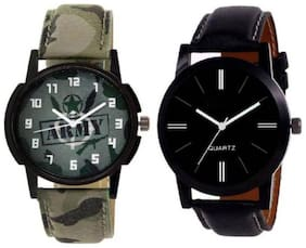 New Stylish ARMY Loves Unique Iteam Combo Pack Of 2 Men's Watches