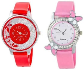 New Stylish Pink Multi Collection For Women's&Girl's Watches