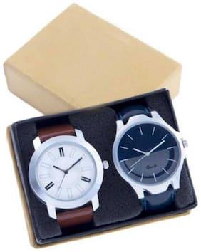 Blue;White Analog Watch