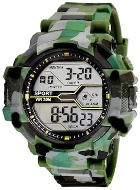 NiyatiFab Army Green Chronograph Digital Sports Watch - For Men Digital Watch - For Men