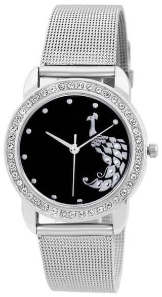 Niyatifab Black Color Dial Peacock Designer Fashion Princess Analog Watch Watch - For Boys