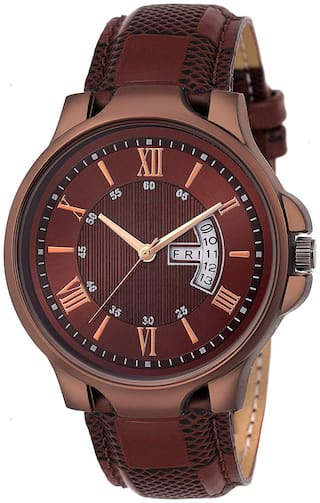 NiyatiFab New Fashion Brown Color Dial With Brown Strap With Dial Working Watch Watch - For Men