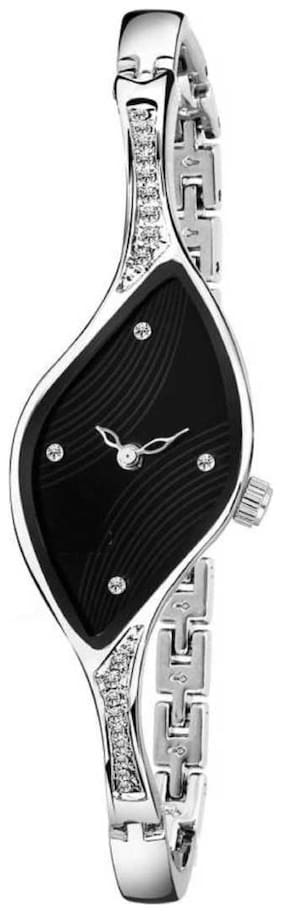 NiyatiFab New Fashion Black Color dial with Diamond Attractive look for girl Watch Watch - For Girls