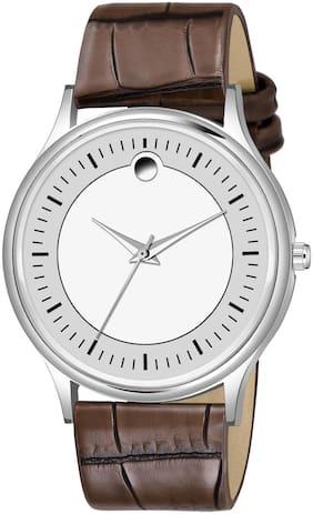 NiyatiFab NiyatiNx New Stylish Slim Dial Brown Leathers Strap Analog Wrist watch For Boy Wrist Watches Analog Watch - For Boys