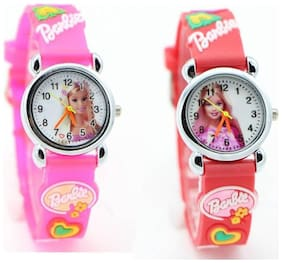 NiyatiFab PINK And RED Barbie Collection Watch For Small Children Watch - For Girls