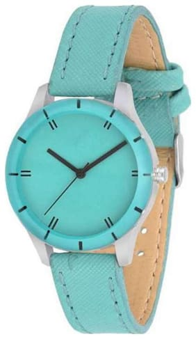 Niyatifeb Green color Lether simple Belt watches GR_115 Watch - For Girls