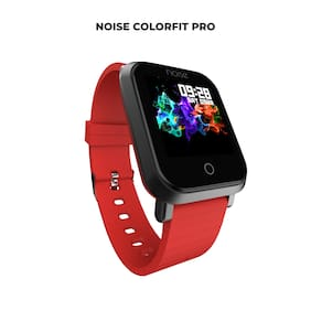 Noise ColorFit Pro Smartwatch - Classic Hot Red | Bluetooth Smart Band with Detachable Strap | Wide Screen Waterproof | Sports and Activity Tracker | Camera and Music Control Features