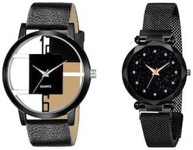 Unisex Black Analog Watch
