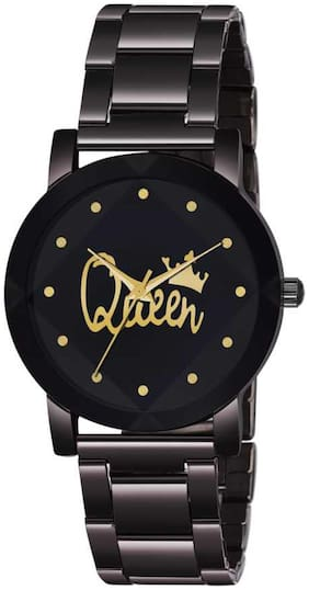 NX_Crystal-King-BD-Chain-queen Premium Quality Designer Fashion Wrist Analog Watch - For girl
