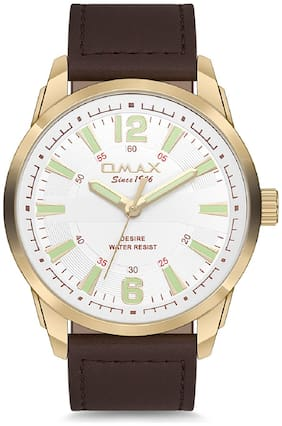 OMAX Analog White Dial Men's Watch