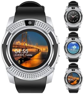 Original Premium Quality V8 Smartwatch with Pedometer;Remote Camera;Sim Card and Sleep Monitoring Support for all Smartphone