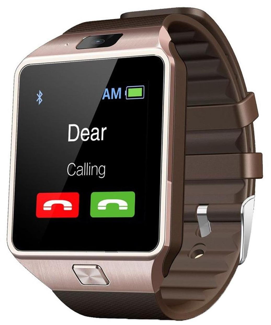 Pattern T30 Gold Bluetooth Smartwatch With Sim and Camera. image
