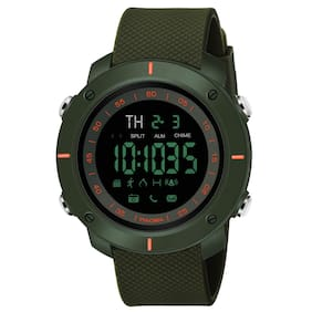 Piaoma Waterproof Series Digital Black Dial Digital Boy's and Men's Watch - Green9061