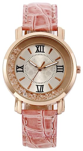 Popmode Rose Gold Dial Pink Strap Women's Fashion Analog Watch