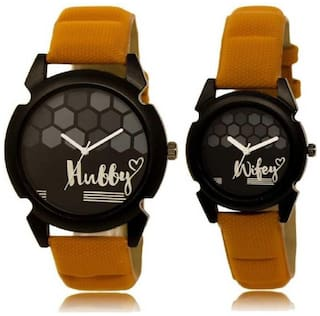 ClockRoom  True Lover's Choice New Hubby-Wifey Analog Watch - For Couple
