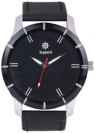 Rabela Analog Men's Watch Black Dial and Black strap watch