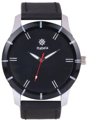 Rabela Analog Men's Watch Black Dial and Black strap watch