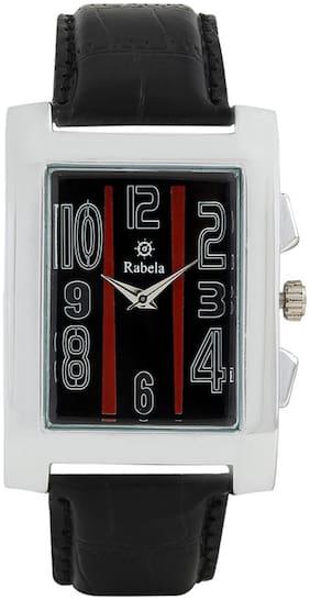Rabela Black Analog Watch