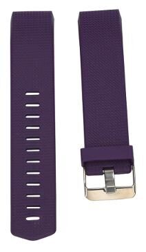 Replacement Wrist Strap Soft Silicone Watchband For Fitbit Charge 2 Watch (Purple)