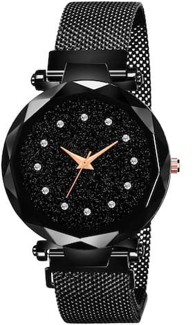 Royaltail RT-153 Luxury Mesh Magnet Buckle Starry sky Quartz Watches For girls Fashion Clock Analog Watch - For Girls