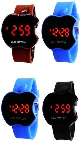 S S T_BUY 2 GET 2 FREE COMBO OFFER- Sports Digital 7 Colours with 7 Lights Watch for Kids/Boys/Girls -Good Return Gift