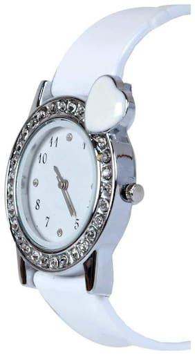 SAMARPAN STYLISH DIAMOND WHITE WATCH FOR WOMEN & GIRLS