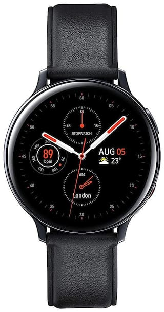 Samsung Galaxy Watch Active 2 (Bluetooth + LTE 44 mm) - Black Steel Dial Leather Straps