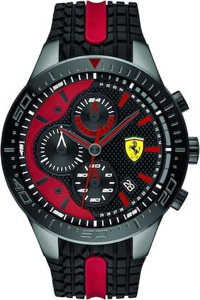 Scuderia Ferrari Redrev Chronograph Black Colour Round Dial Men's Watch - 0830592