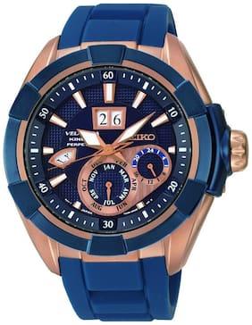 Seiko Snp120p1 Velatura Blue Dial Analog-chronograph Watch For Men