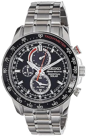 Seiko Sportura Chronograph Black Dial Men's Watch - SSC357P1