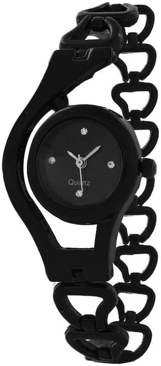 Shivam Retail Black Chain Watch