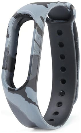 Shopizone Soft Silicone Adjustable Strap For Mi Band 3 - Grey