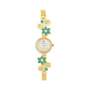 Shostopper Blue White Dial Analogue Watch For Women SJ62073WWV