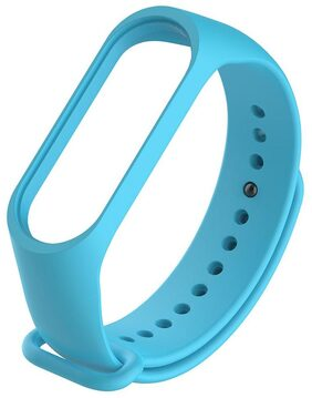 Silicone 220mm Wriststrap Band for Xiaomi Miband 3 Watch (Light Blue)