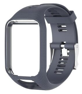 Silicone Watchband Part for TomTom Runner 2/Spark/Spark 3 (Gray)