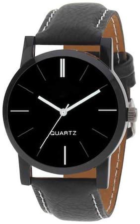 Simple And Stylisht Full Black Plain Watch