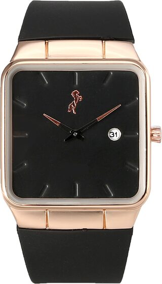 Simple Square Official Doctor;CA Professional Rosegold Luxury BrandedDial Black watch