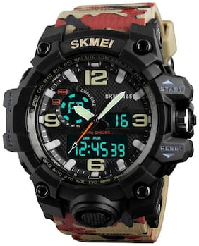 Skmei 1155 Army Camouflage Chronograph Water Resistant Analog Digital Watch -For Men & Boys
