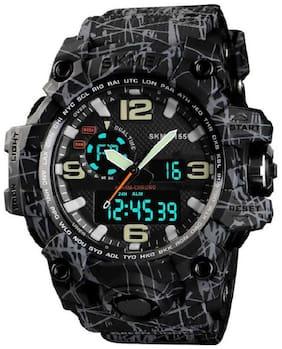 Skmei 1155 Grey and Black  Analog-Digital Watch For Men