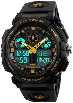 Skmei 1270 Gold Analog Digital Wrist watch Watch
