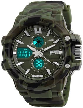 Skmei 990 Army Camouflage Military Chronograph Digital Sports Watch For -Boys & Men