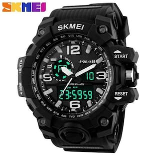 Skmei AD1155BLK ANADIG Analog-Digital Watch - For Men