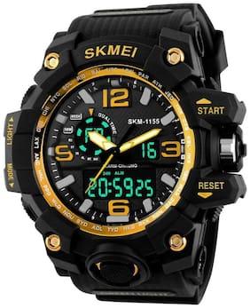 Skmei Analog-Digital Black Dial Men's Watch-1155 Gold