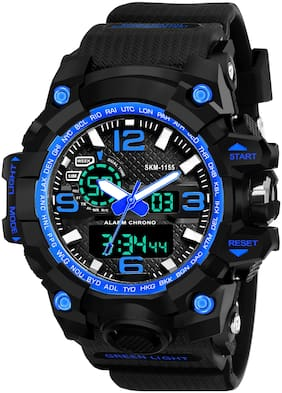 Skmei Analog-Digital Blue Dial Men's Watch - 1155BBBL