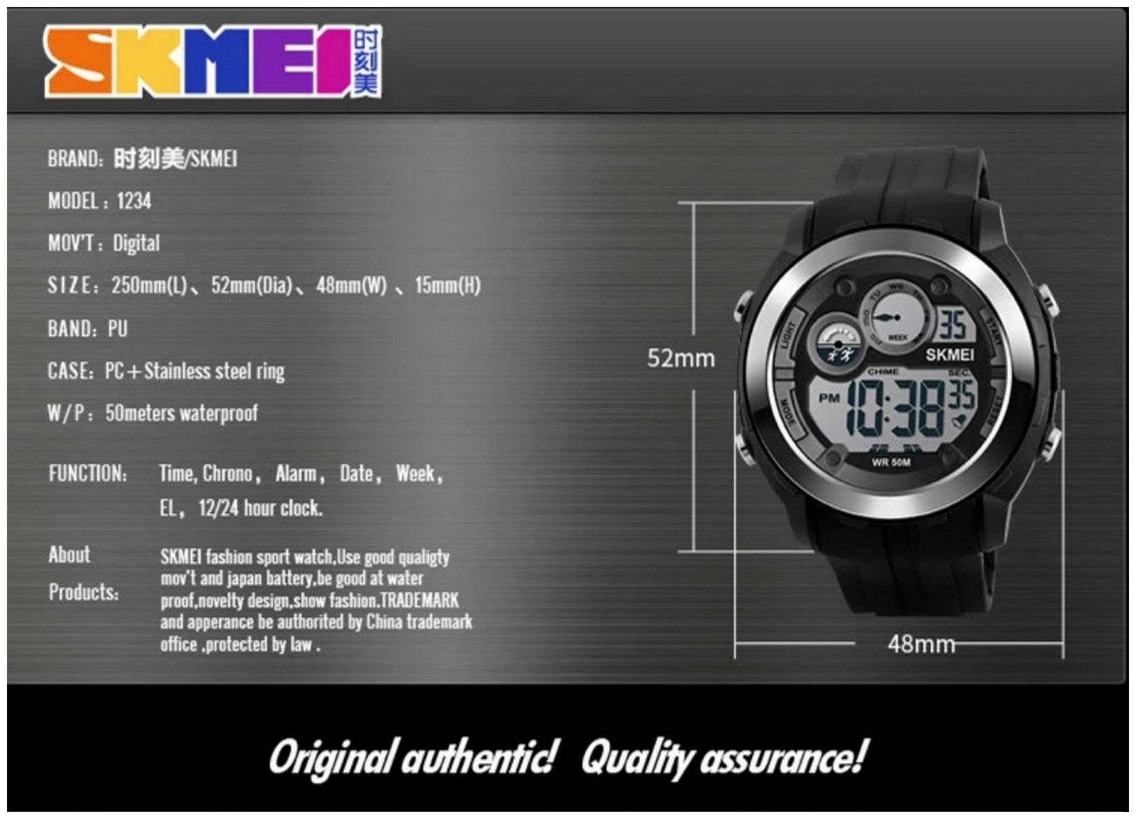 Skmei Digital-Analogue Silver Dial Multi-function Wrist Watch for Men and  Boys
