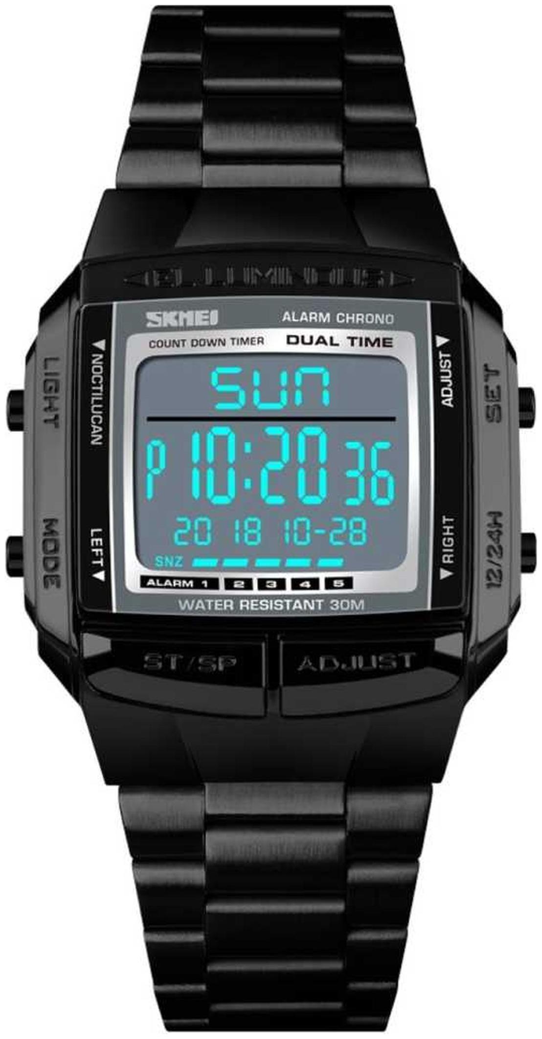 Skmei Luxury Brand Sports Watches 5 Alarm Dusk Countdown Electronic Digital Wrist Watch Fashion Outdoor Clock Men by Anam Ecommerce