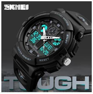SKMEI Quartz Movement Analogue-Digital Multi-Functional Black Dial Men's Sports Watch