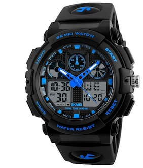 Skmei Men Black Analog-Digital Watch