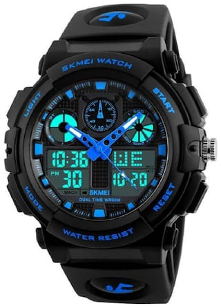 SKMEI Sports Watch Men Digital Double Time Chronograph Watches 50M Watwrproof Week Display Wristwatches 1270
